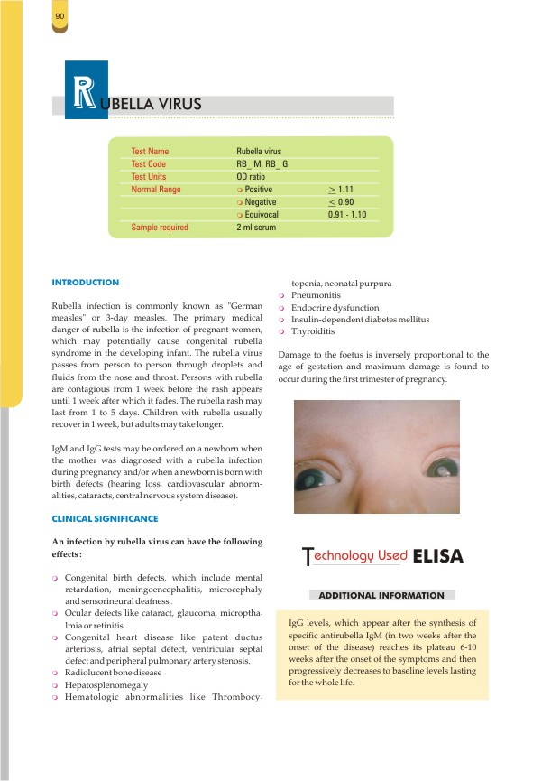 RUBELLA - IgM Test @ Rs 300   DiagnosticCentres in